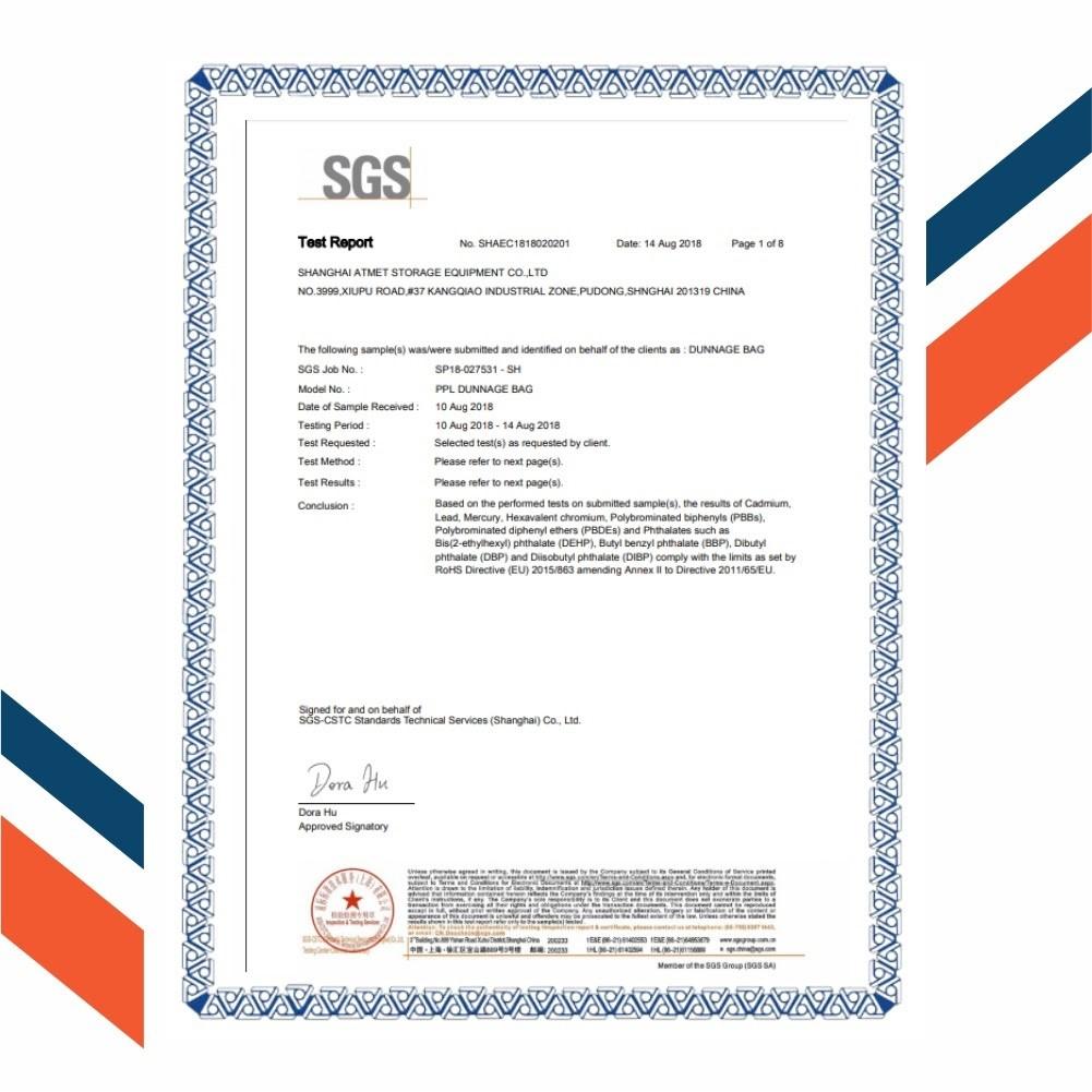 Chứng nhận SGS - ROHS