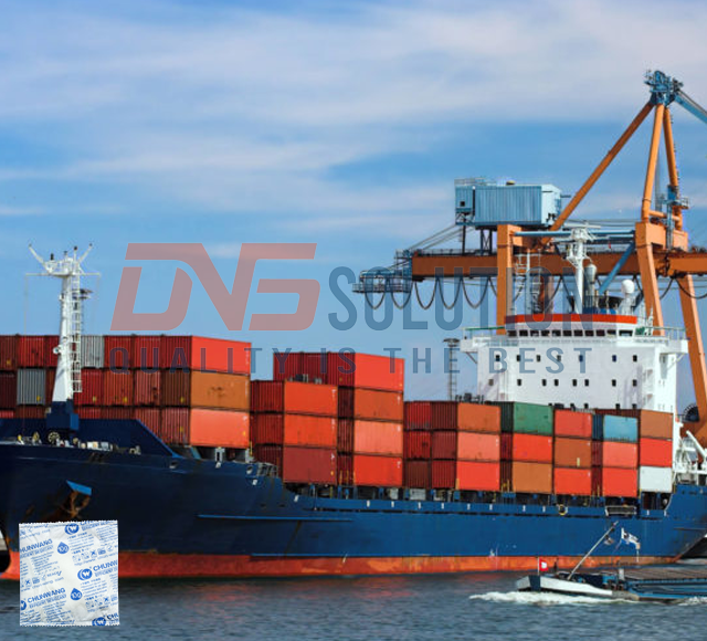 Salt desiccant packs are commonly used in sea shipping