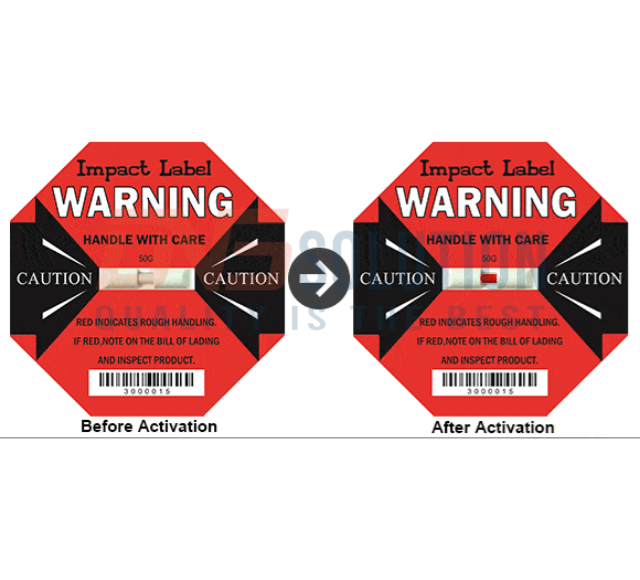 Hình ảnh cơ chế hoạt động của nhãn phát hiện shock Impact Label
