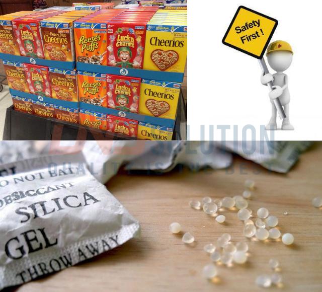 Gói hút ẩm trong thực phẩm phải an toàn với người sử dụng