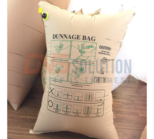 Structure of kraft paper dunnage bag